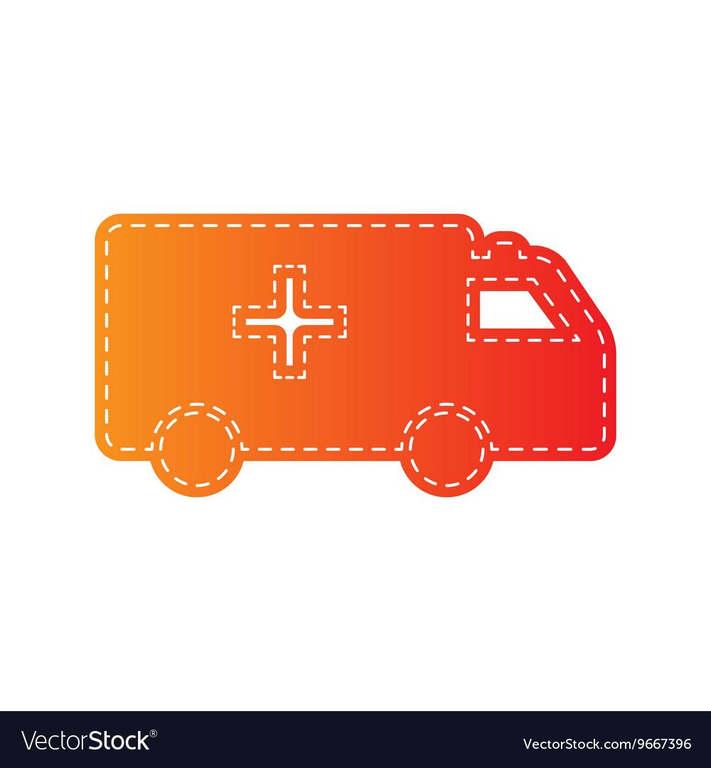 Ambulance sign orange applique