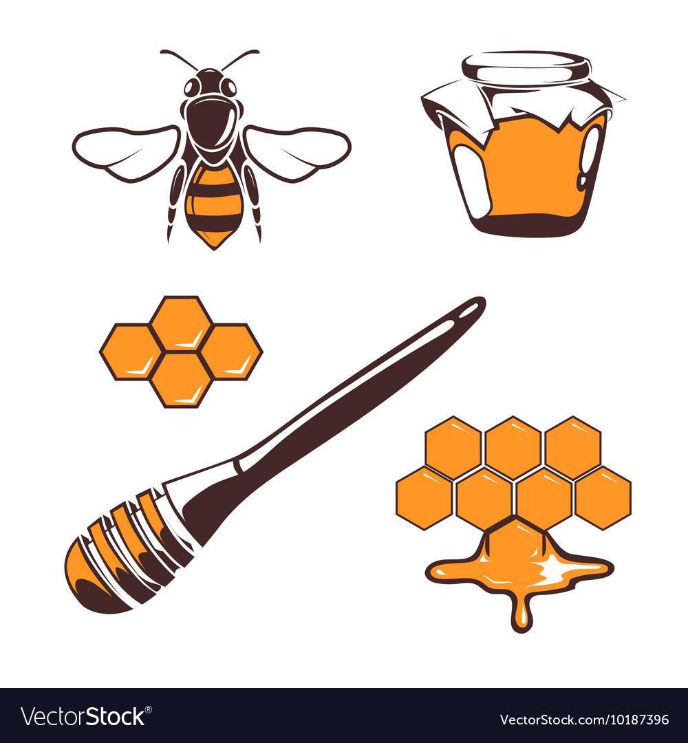 Beekeeper bee honey design elements