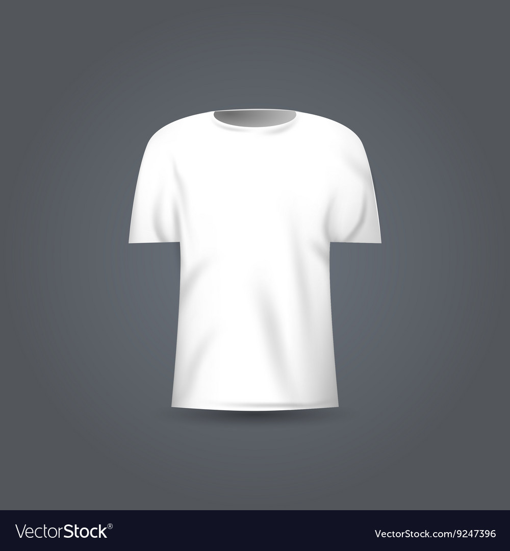 Blank T Shirt Template White Vector Image