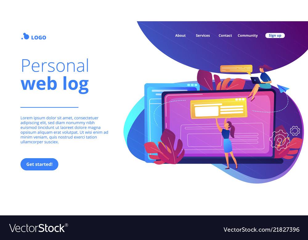 Bloging concept