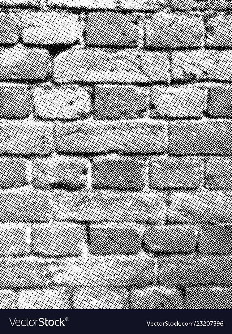 Brick wall halftone texture overlay