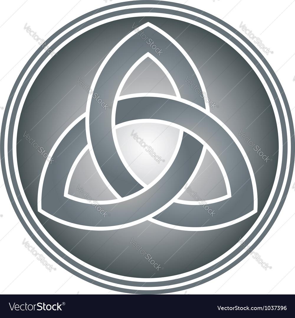 Celtic Trinity Knot Royalty Free Vector Image Vectorstock