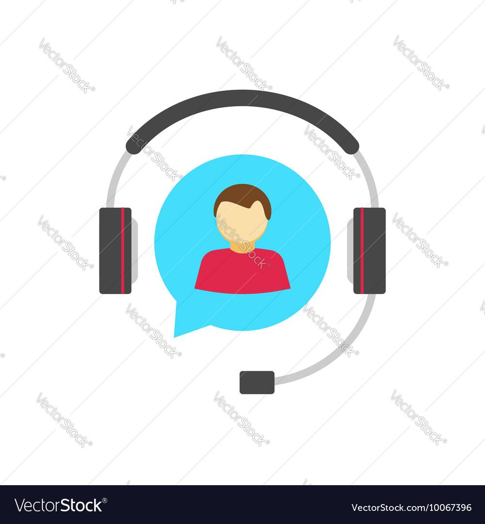Help desk logo concept customer support service