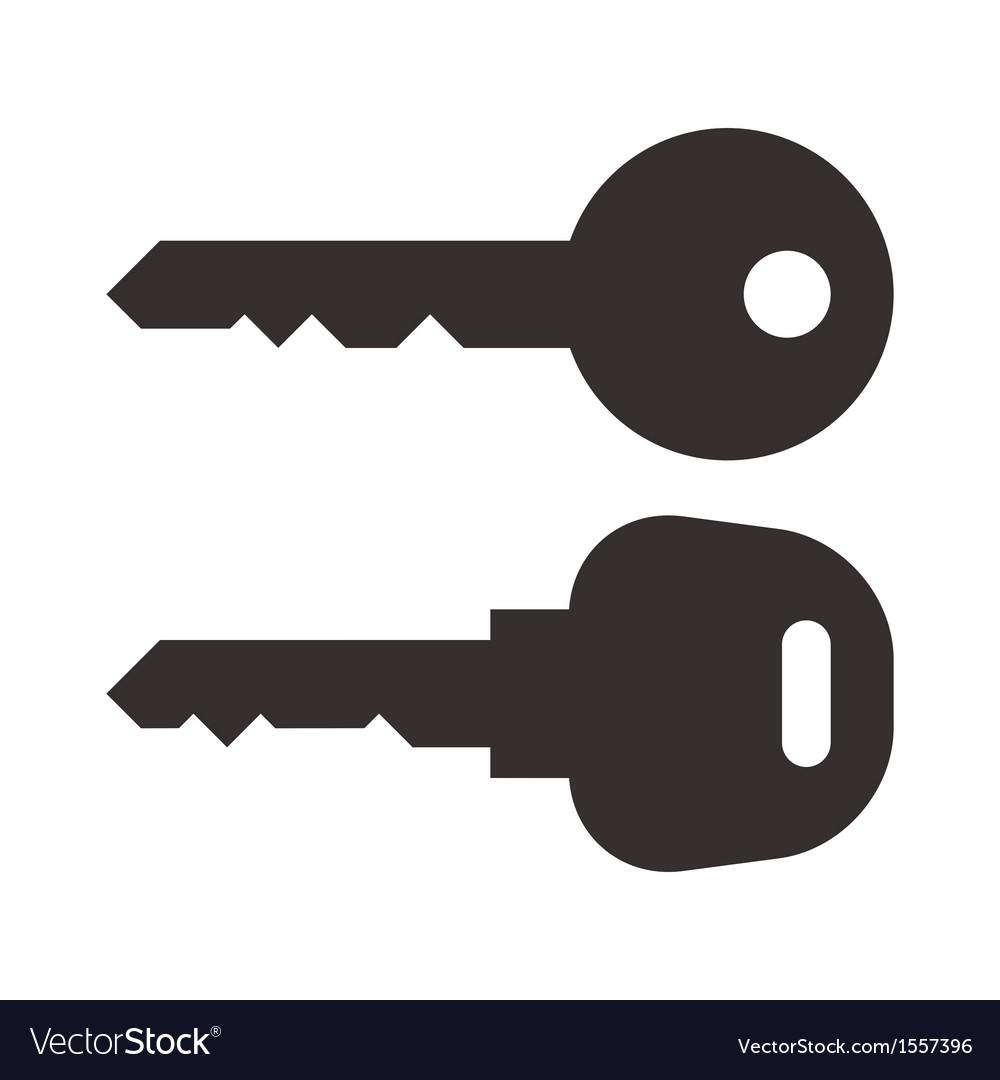 Key And Car Key Symbols Royalty Free Vector Image