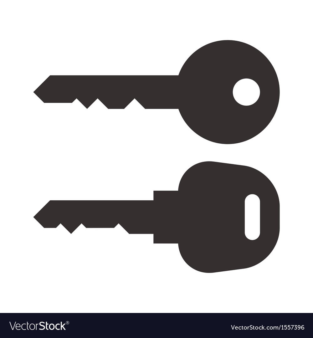 key and car key symbols royalty free vector image rh vectorstock com key vector clip art free key vector freepik