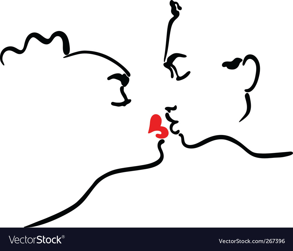 Kissing men and women vector image
