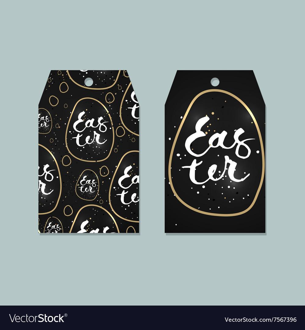 Set of Easter tags labels design