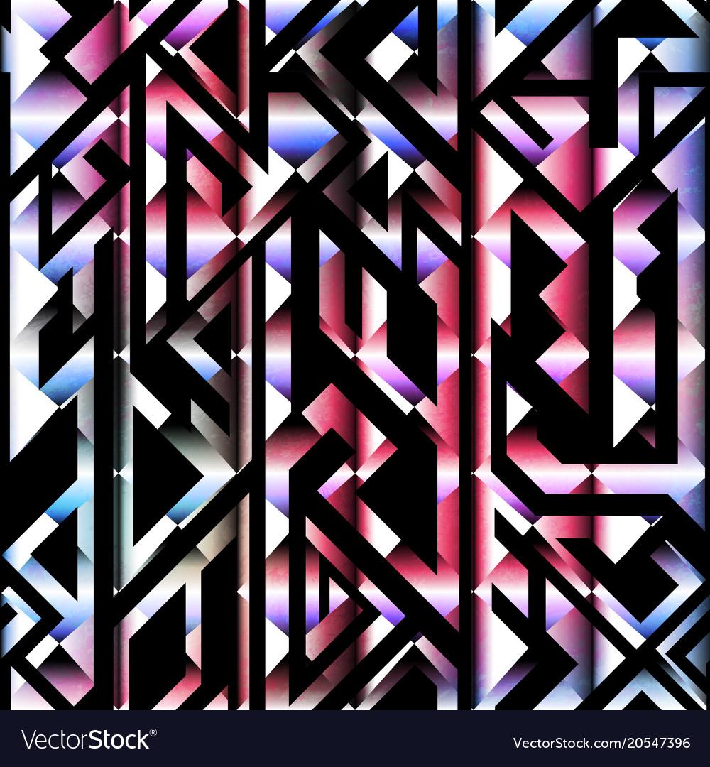 Spectrum color geometric seamless pattern vector image