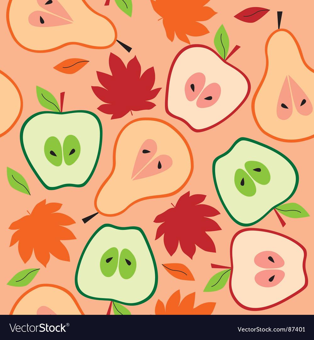 Autumn fruit seamless