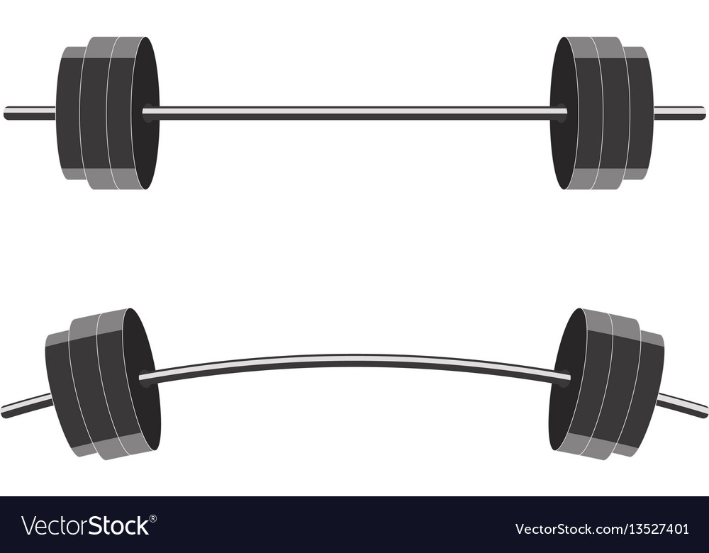 Barbells isolated on white background