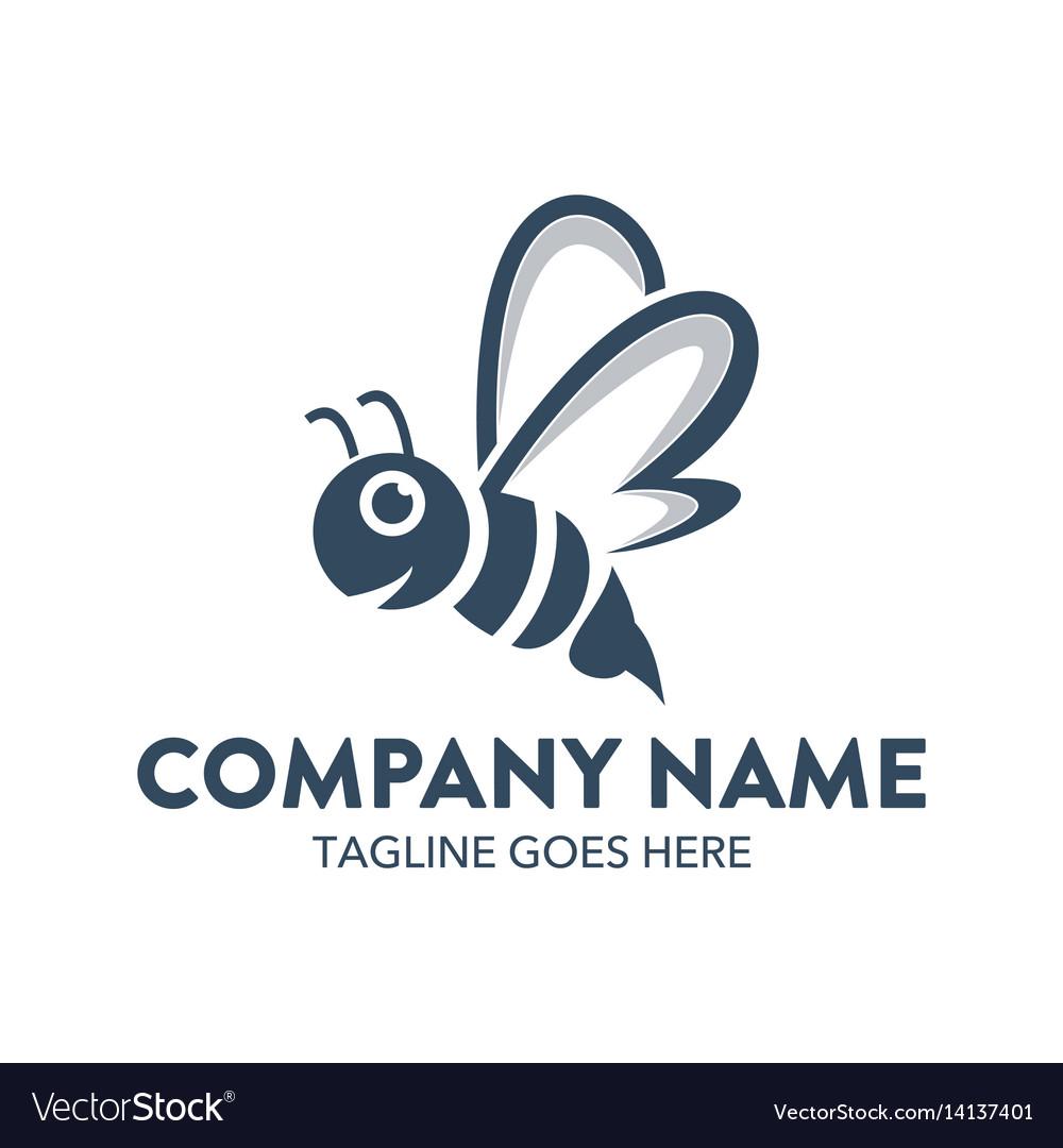 Bee logo-5 vector image