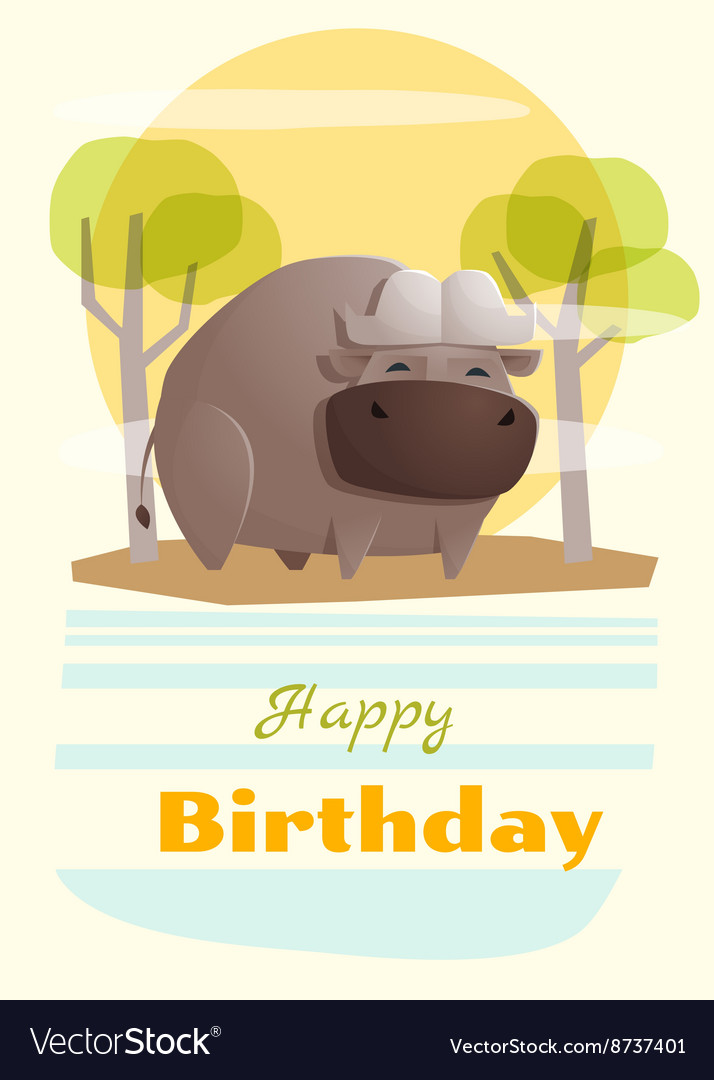 Birthday and invitation card animal background