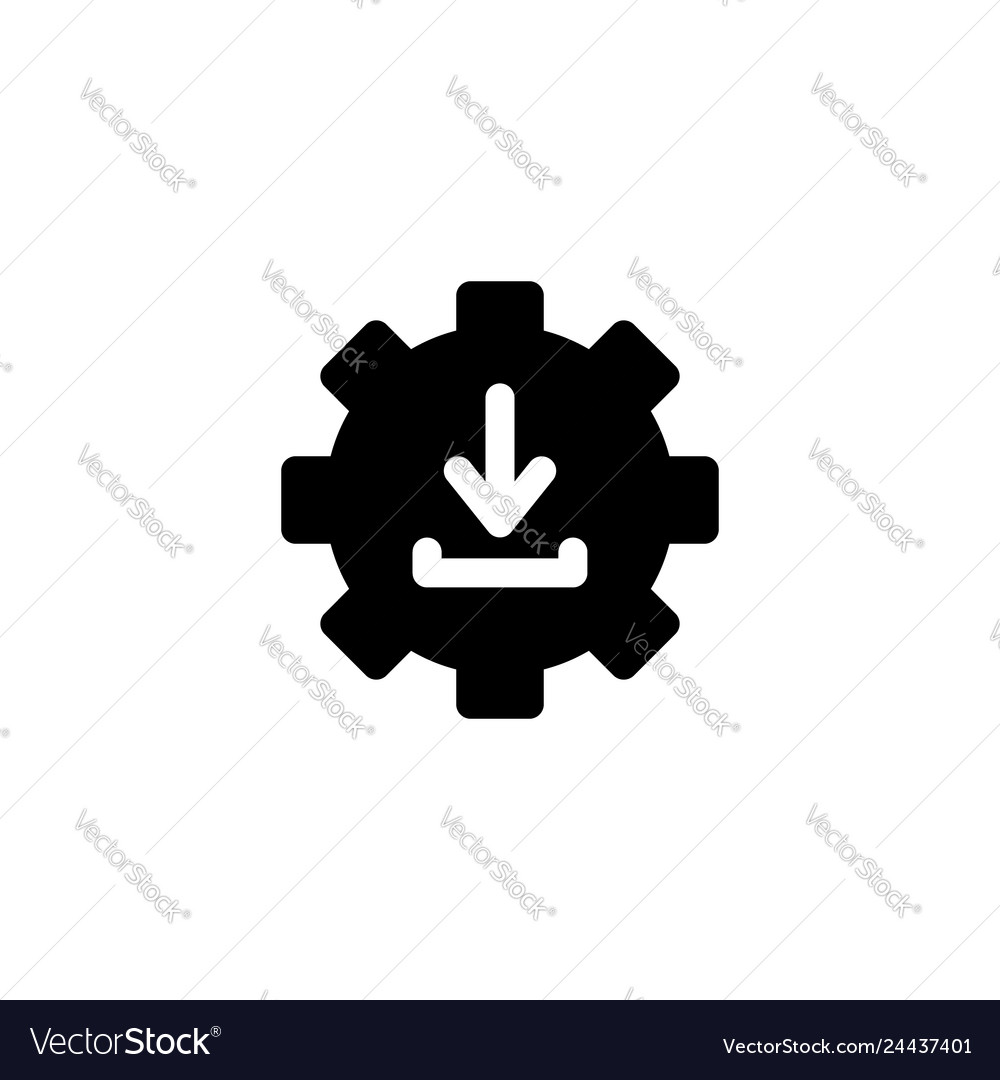 Download icon with glyph style download manager