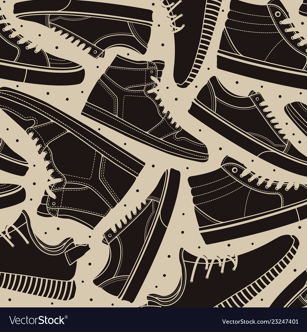 Pattern shoes sneakers classic