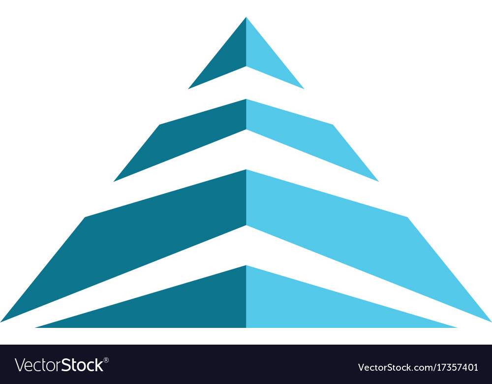 pyramid logo template ilustration royalty free vector image