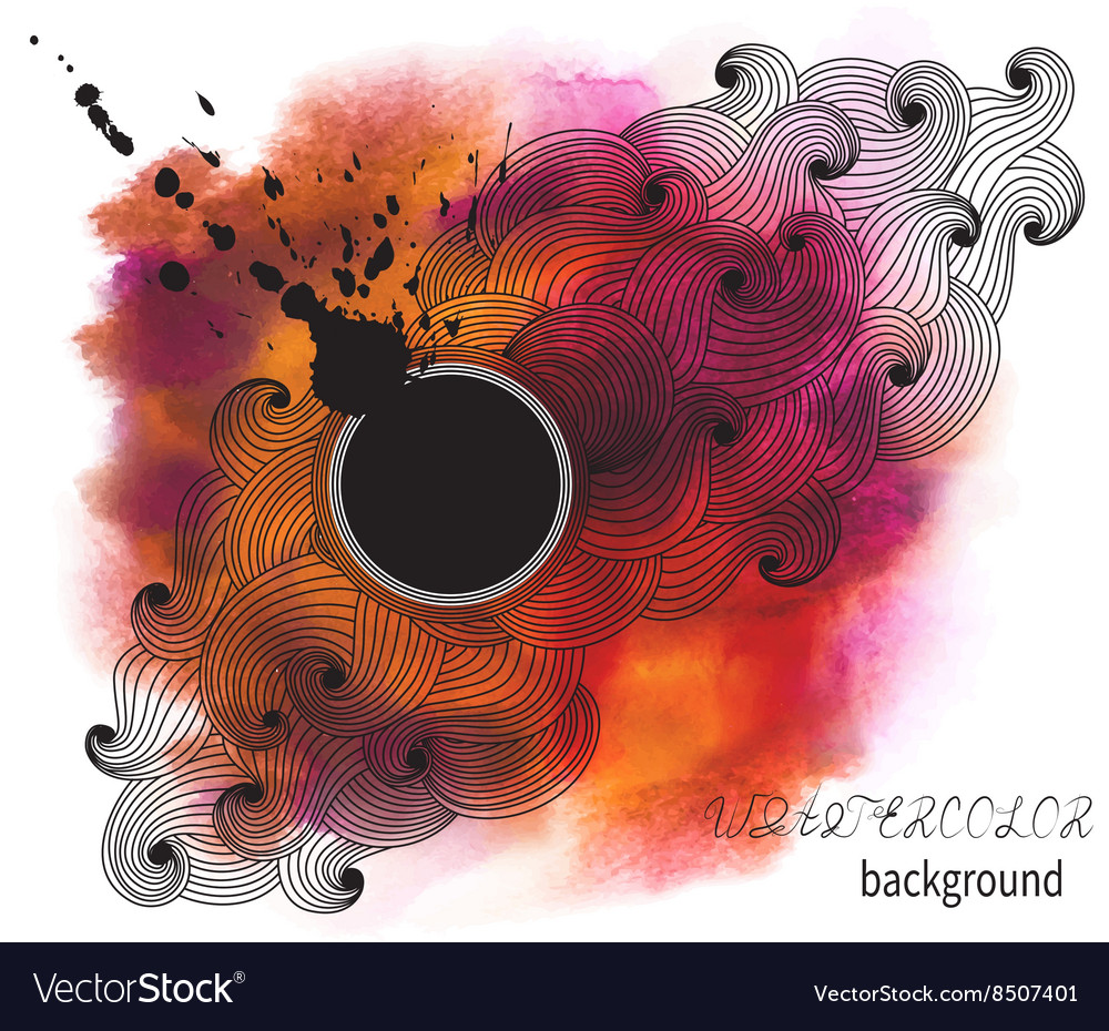 Stained Abstract Watercolor Background vector image