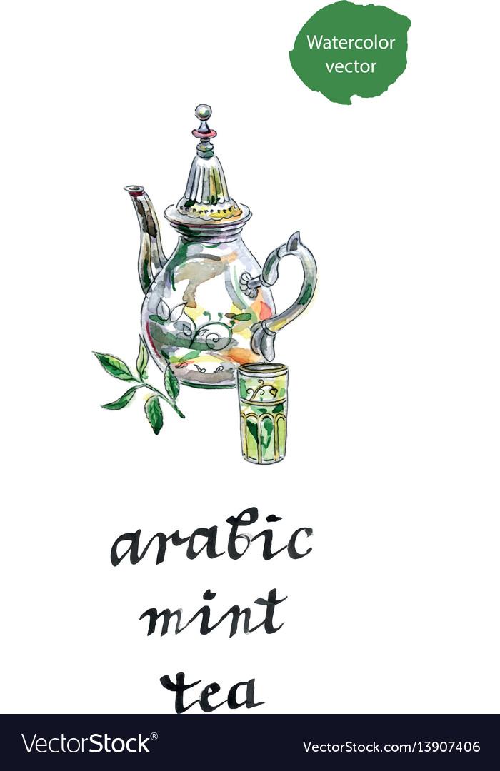 Arabic mint teapot