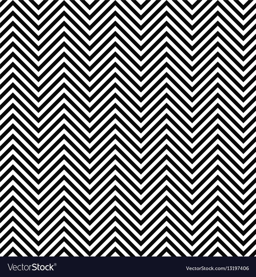 Black and white seamless zig zag line pattern