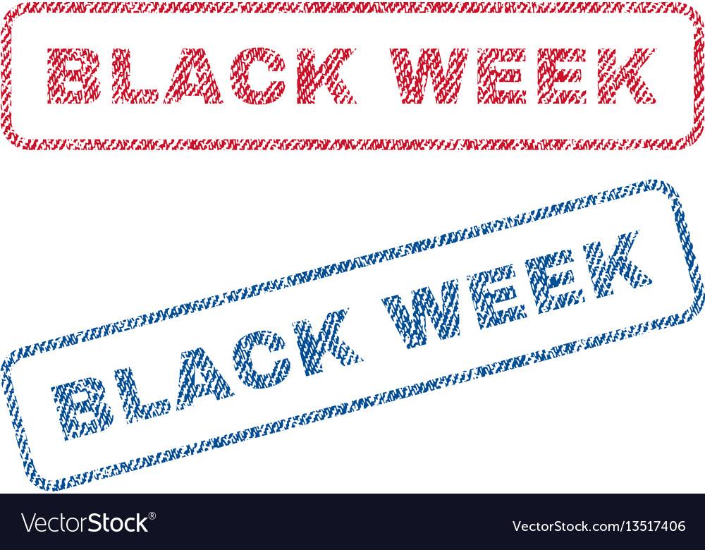 Black week textile stamps