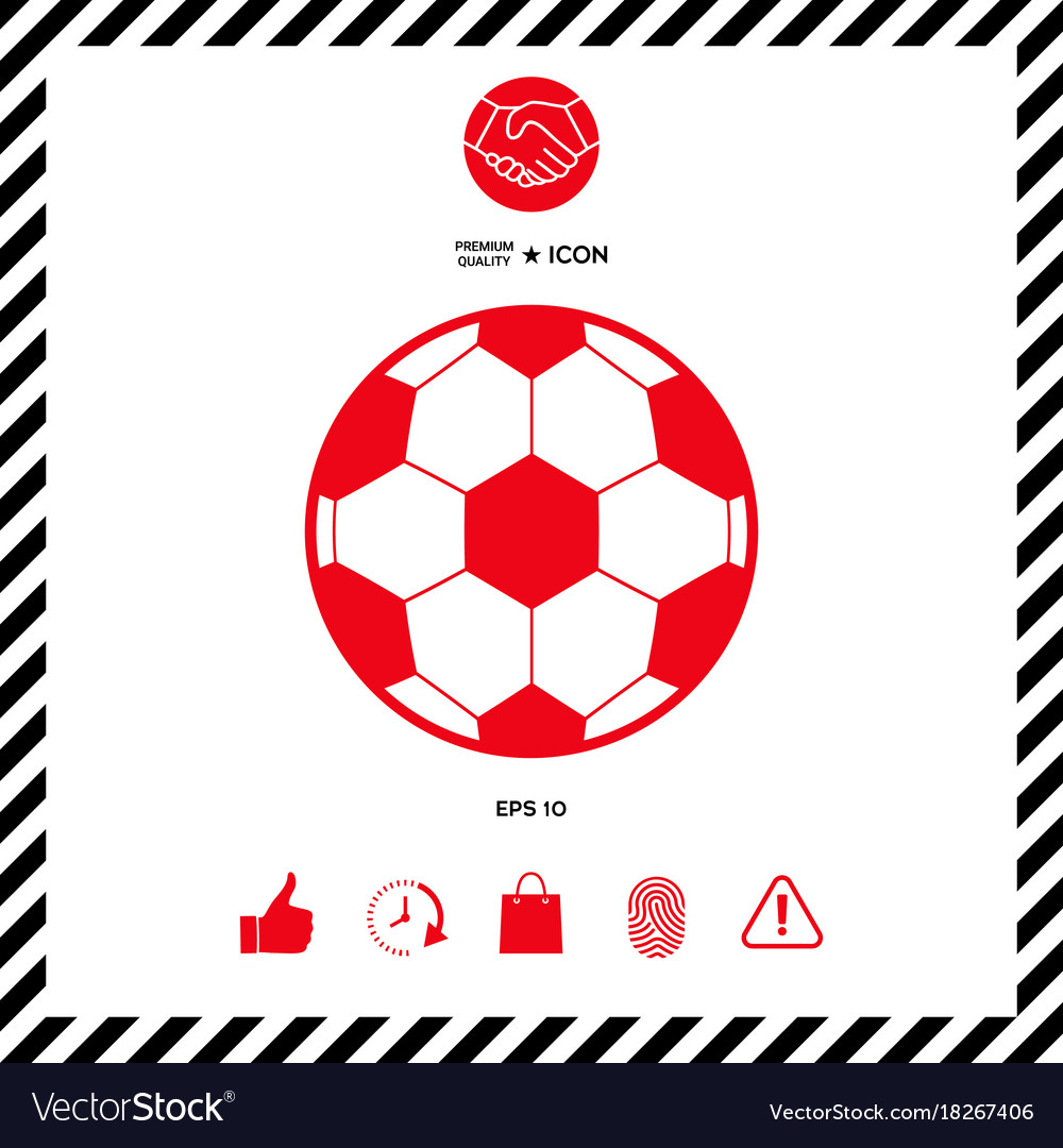 Football Symbol Soccer Ball Icon Royalty Free Vector Image