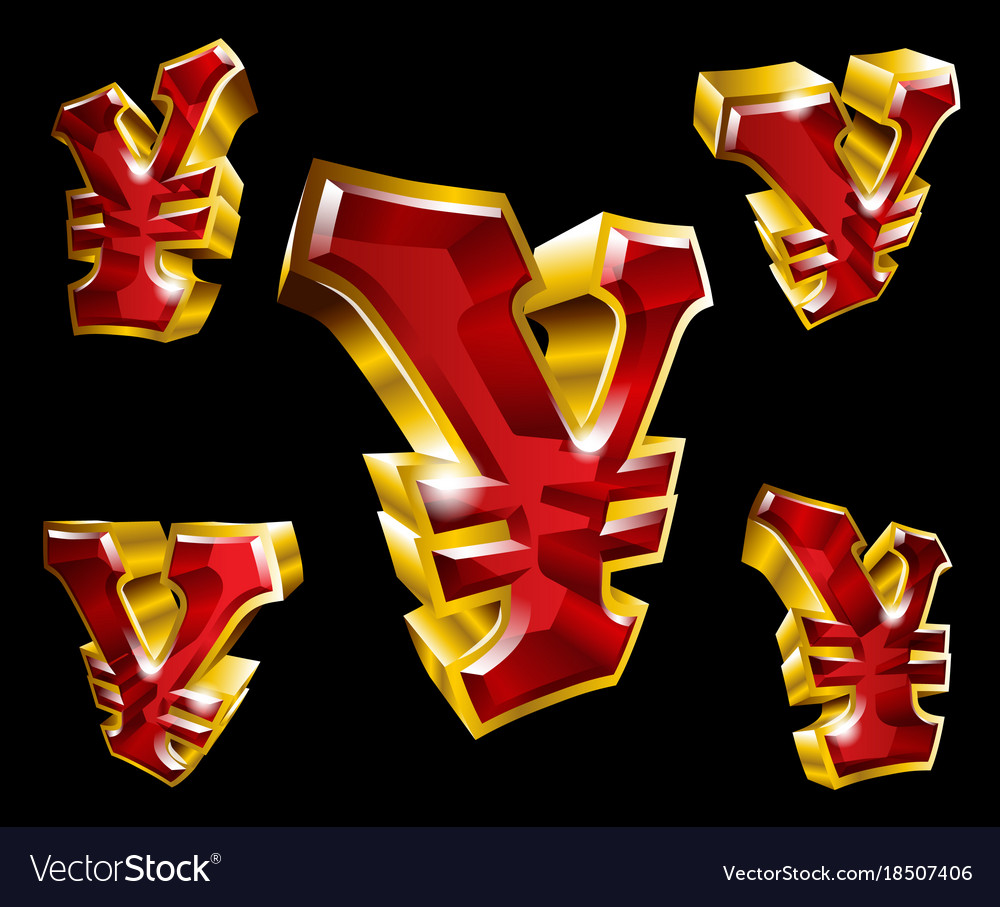 Gold yen symbol