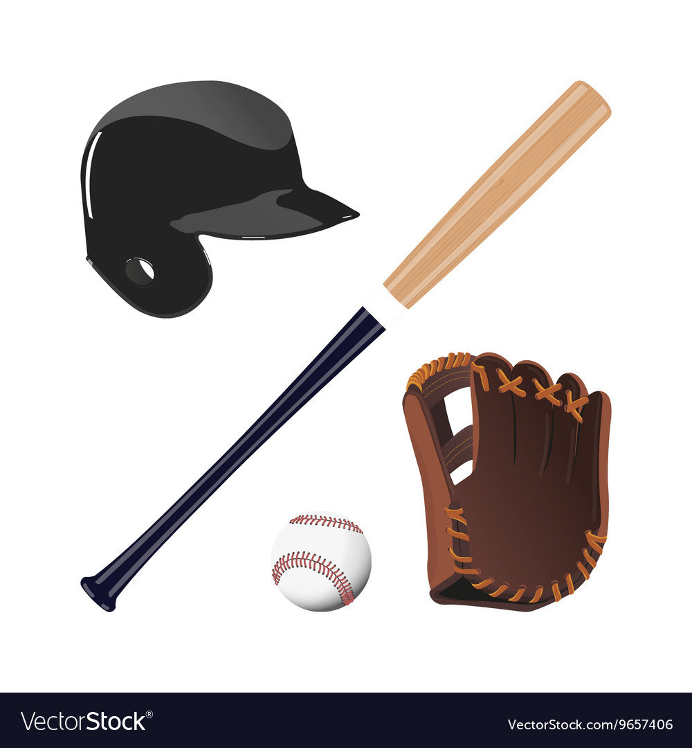Items for baseball vector image
