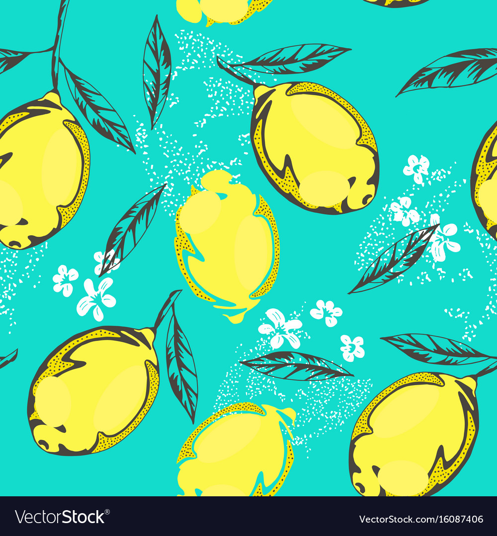 Lemon Pattern Royalty Free Vector Image Vectorstock