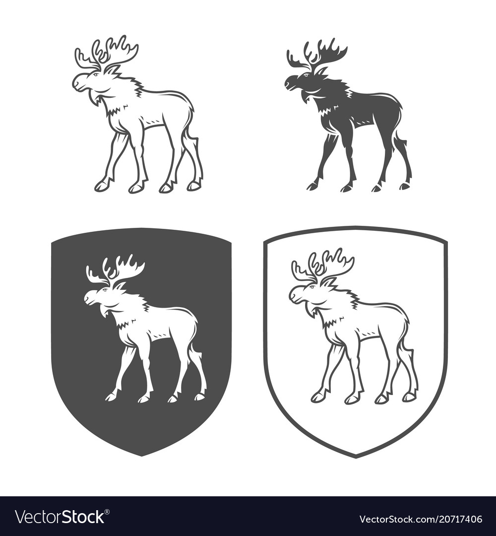 Logo of elk on a white background