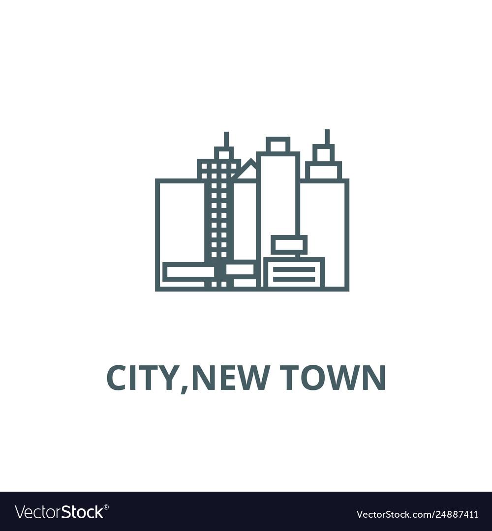 Citynew town line icon citynew town