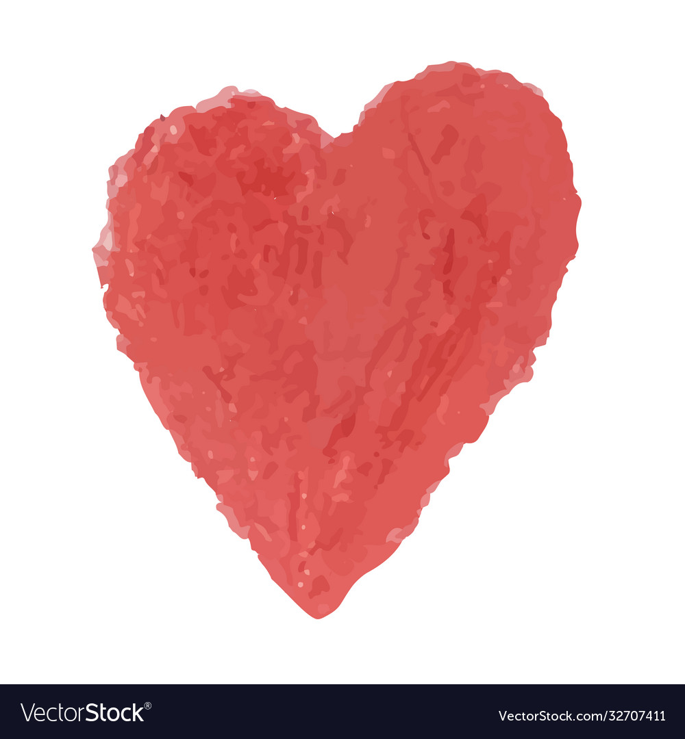 Heart shape drawn with red colored