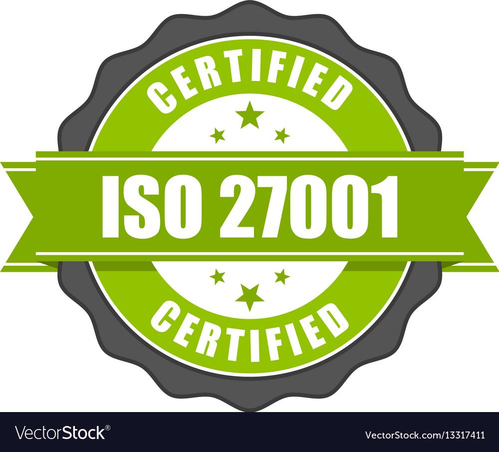 Iso 27001 standard certificate badge - information