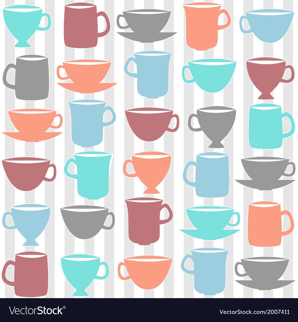 Kitchen cups vector image