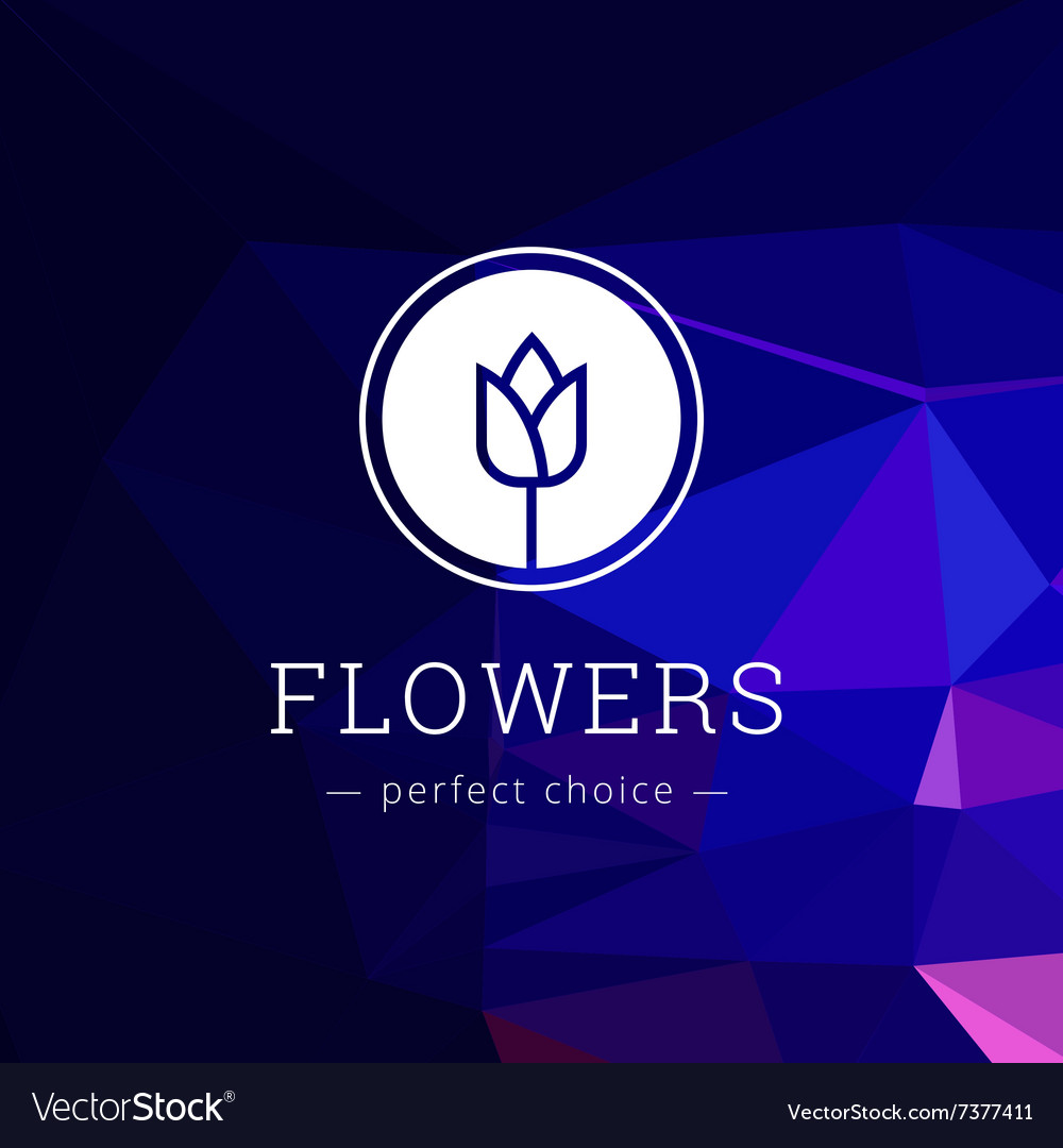 Minimalistic flower shop logo Tulip brand vector image