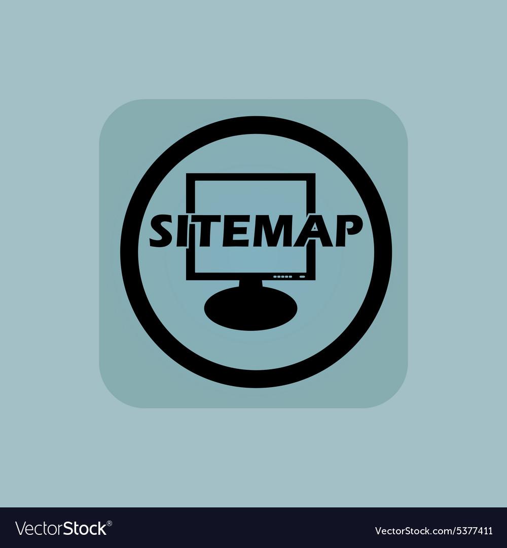Pale blue sitemap sign