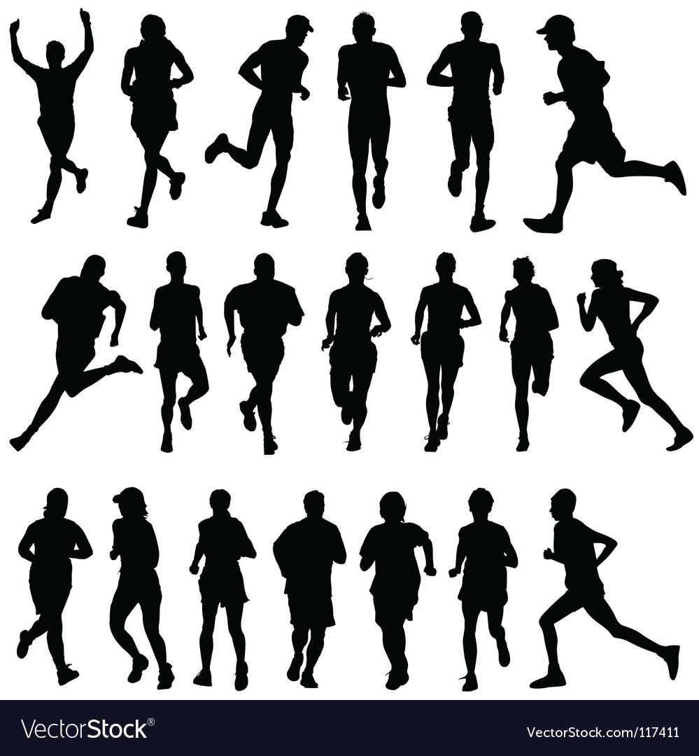 Runner people vector image