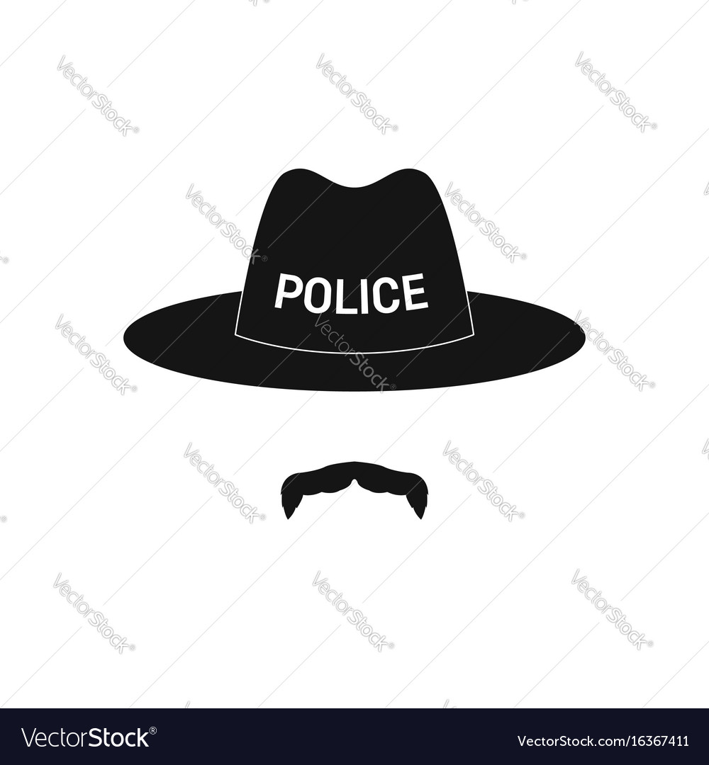 Sheriff avatar mustachioed policeman in hat