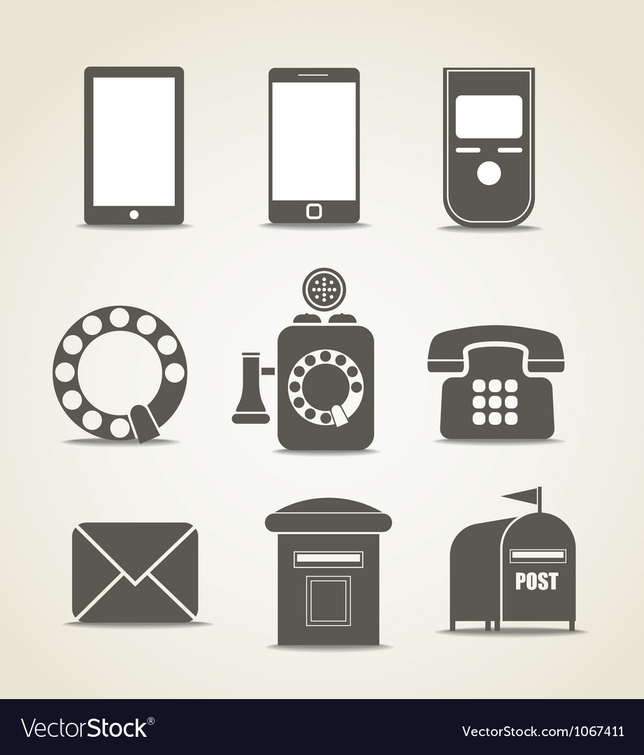 Telecommunicating icons vector image
