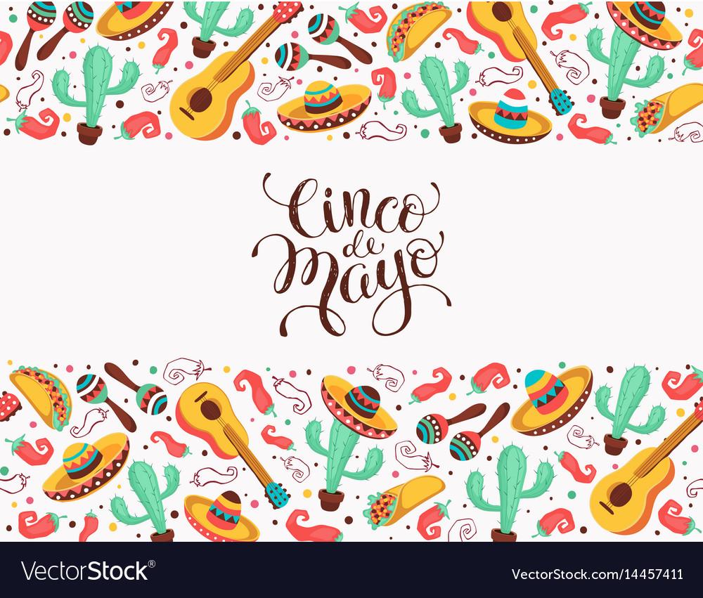 Viva mexico poster vector image