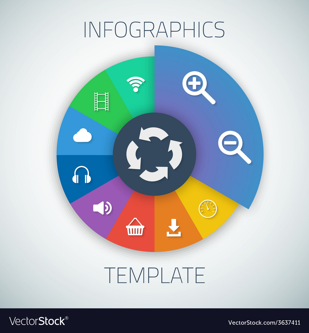Web Infographic Timeline Pie Template Layout With