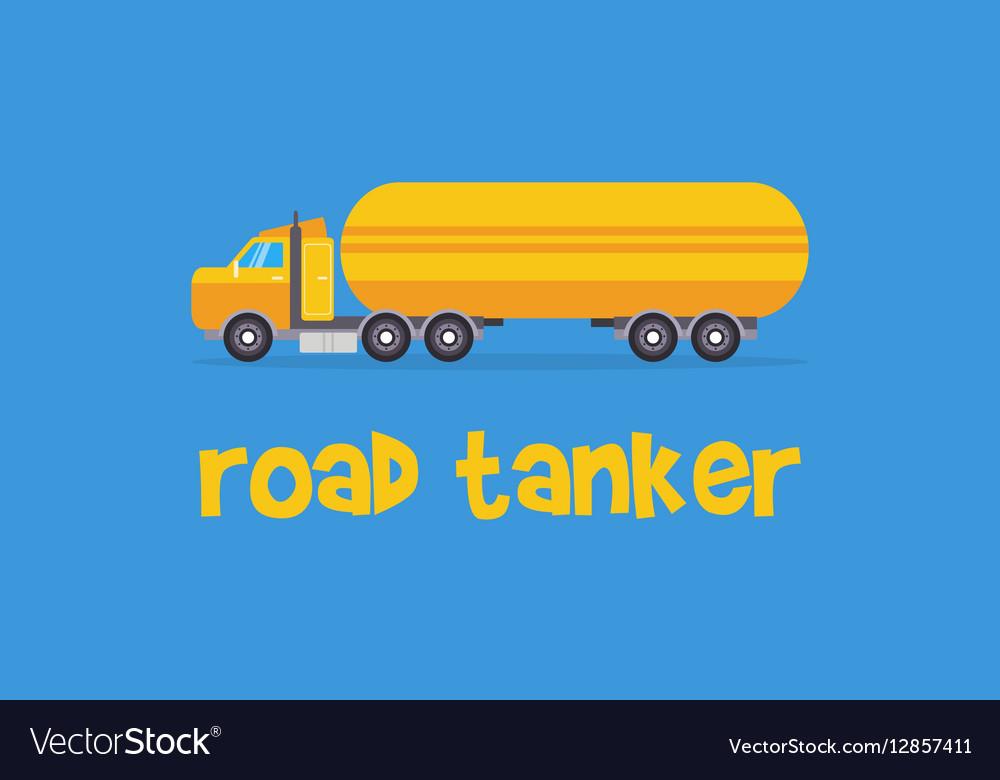 Yellow road tanker of art