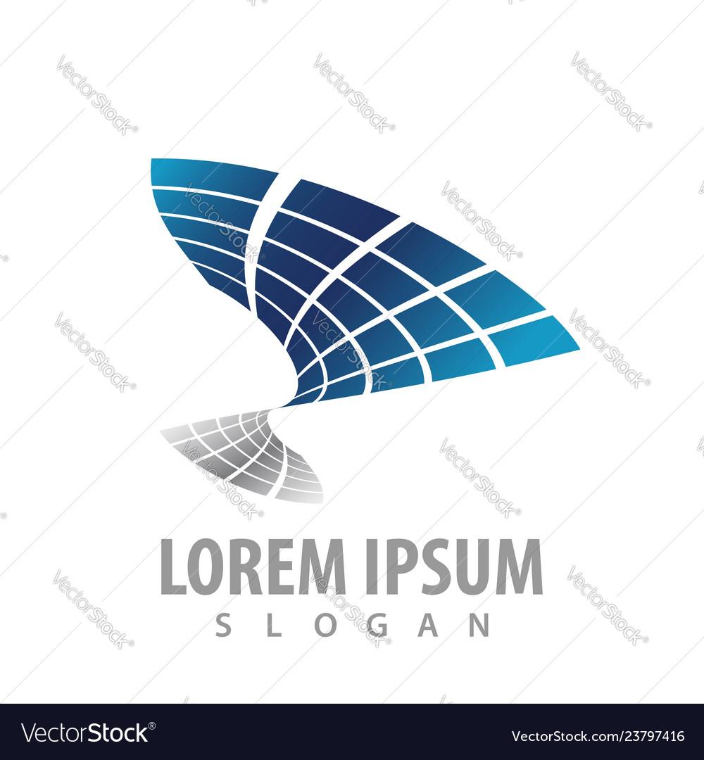 Abstract technology logo concept design symbol