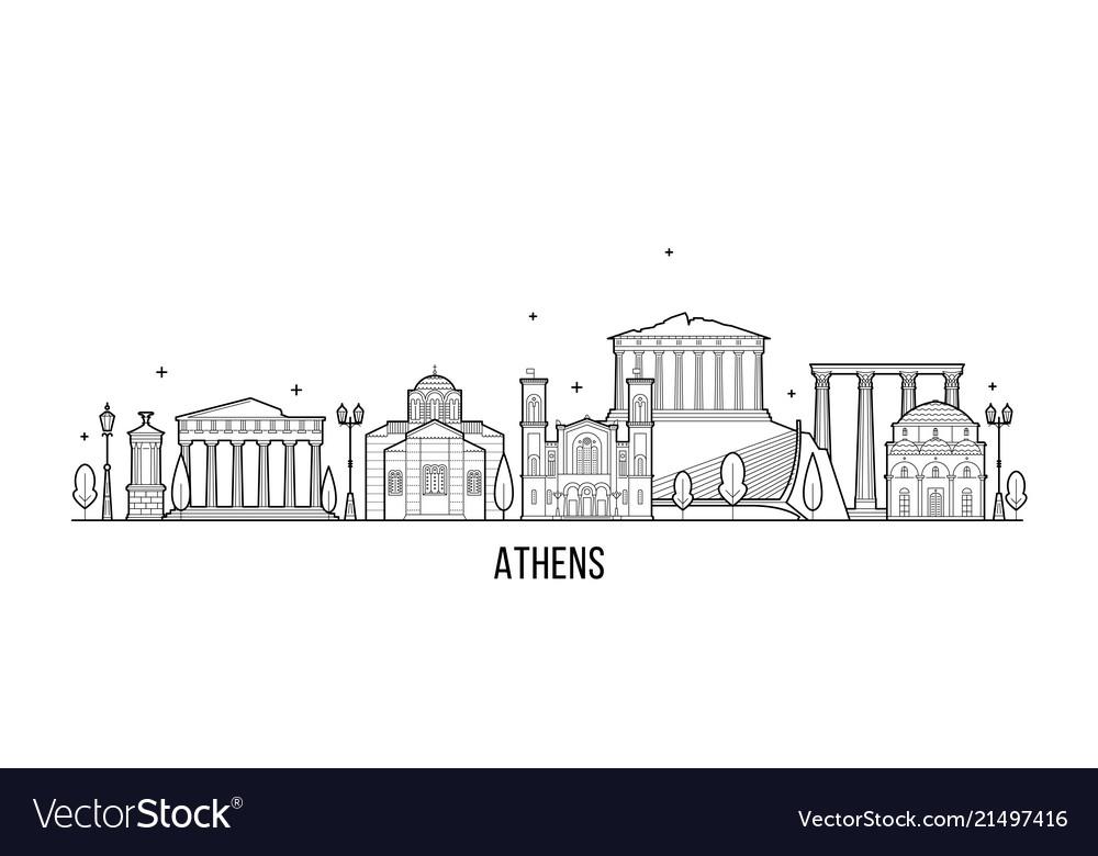 Athens skyline greece city building