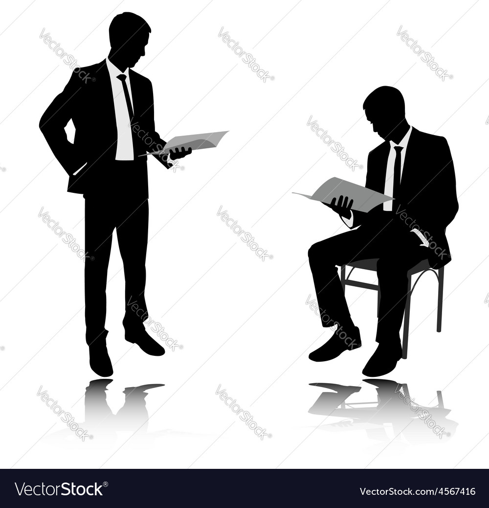 Businessman reading vector image