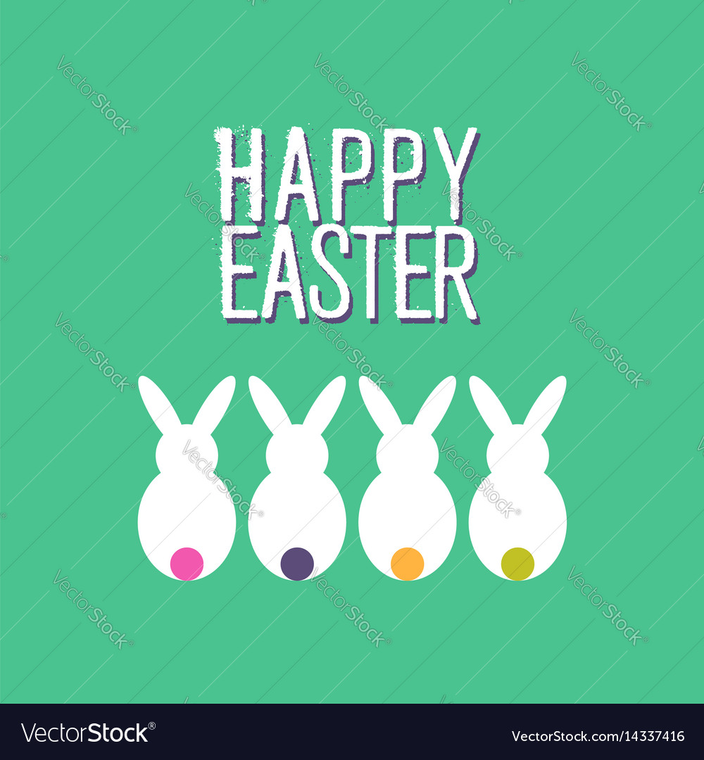 Happy easter funny rabbit greeting card design