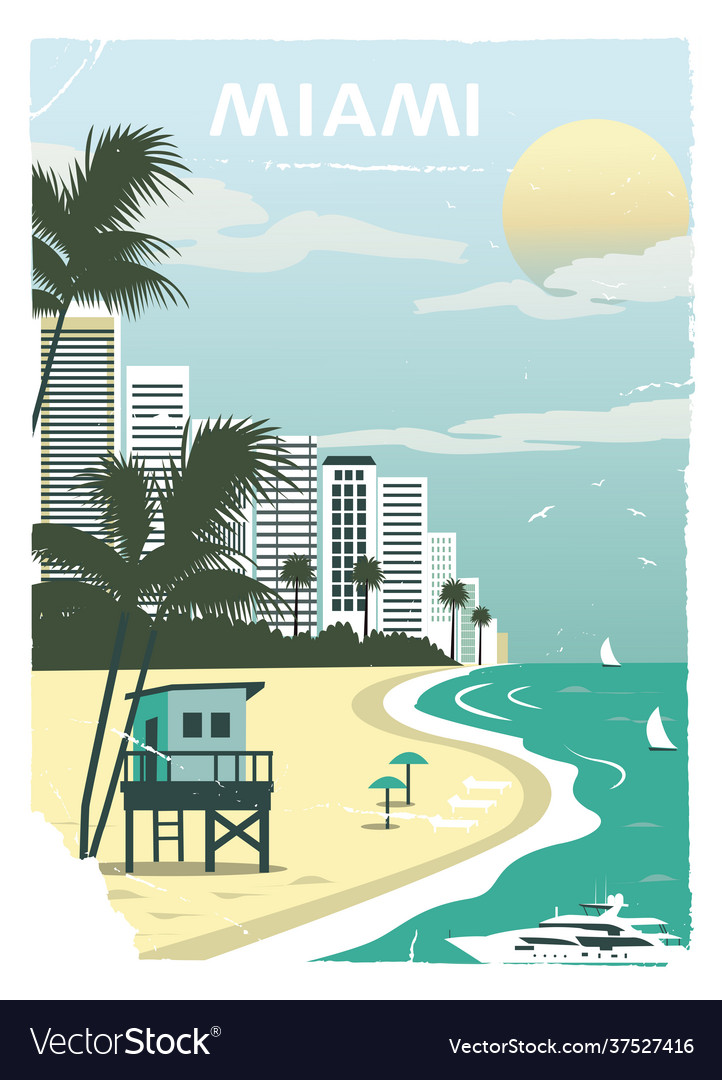 Miami city in old style