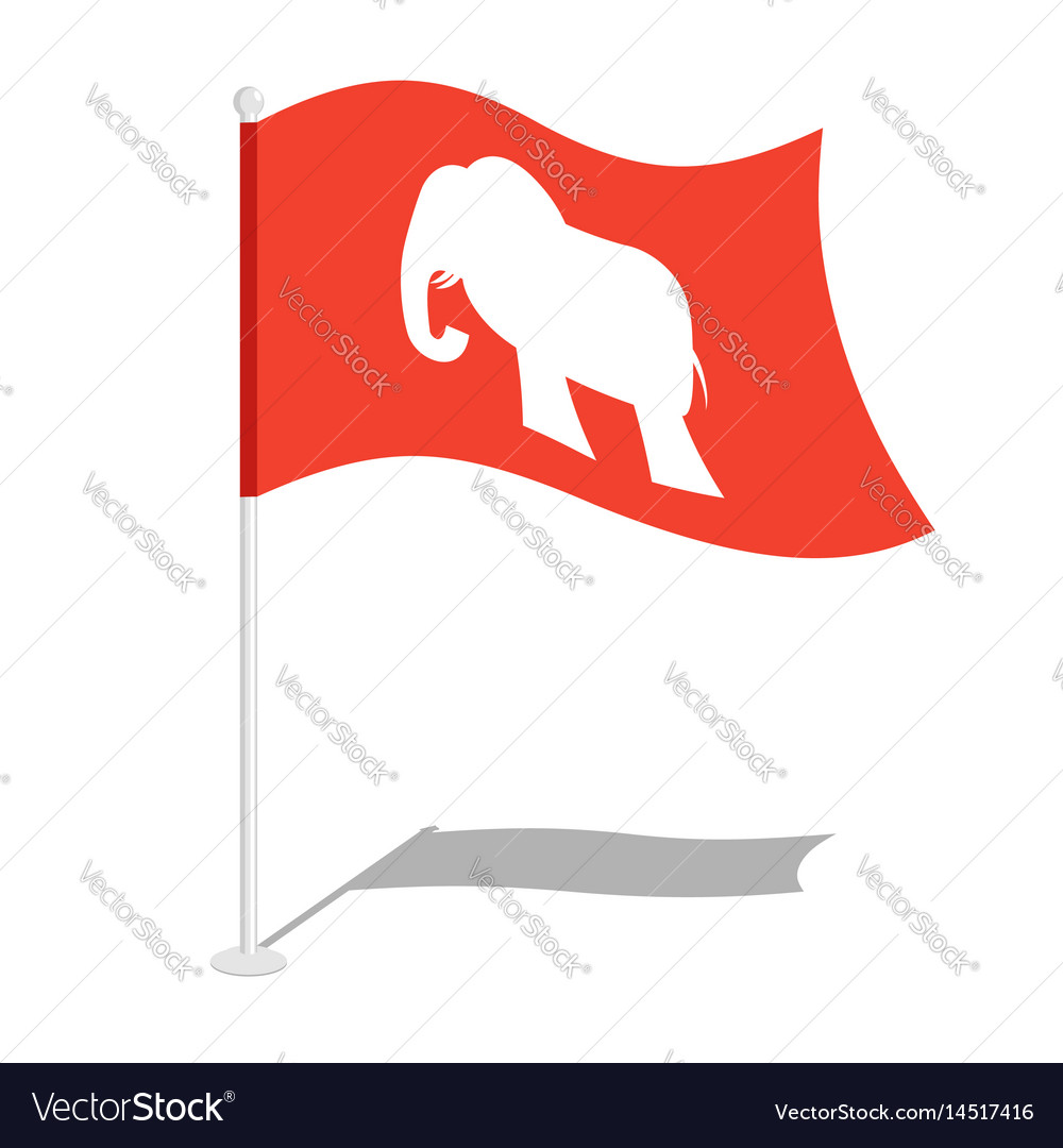 Republican Elephant Flag National Flag Of Vector Image