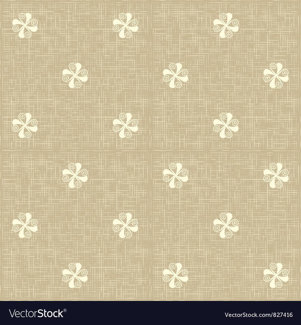 Seamless Floral Pattern Flowers Rustic Texture Vector Image