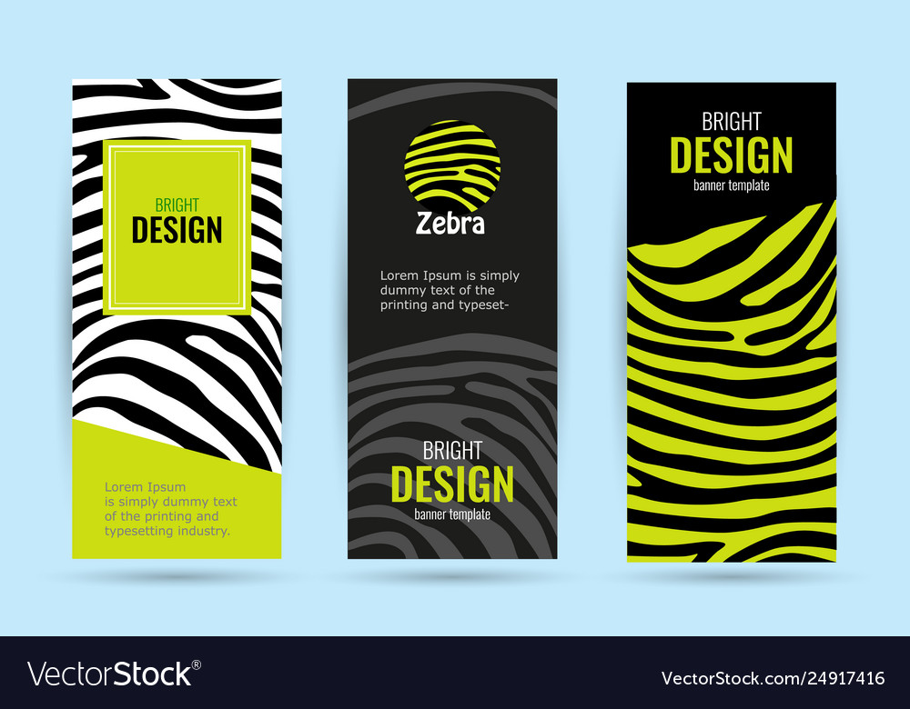Set vertical roll up with black stripes bright