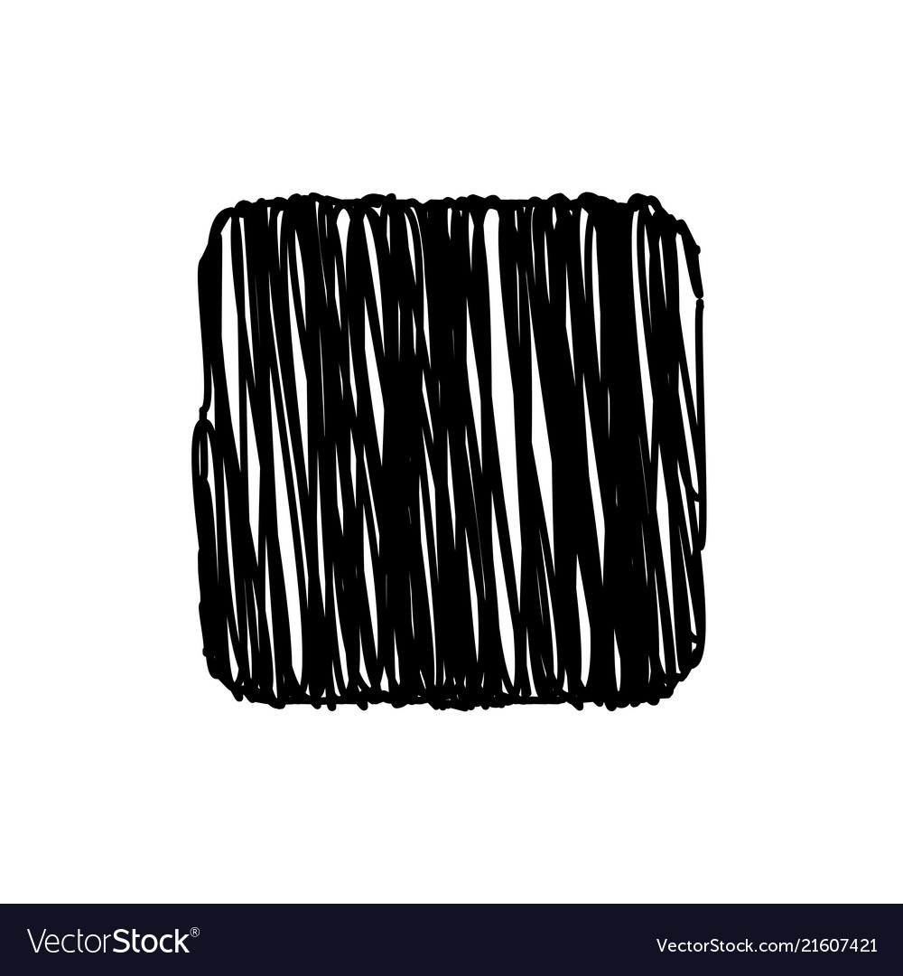 Black square scribble background