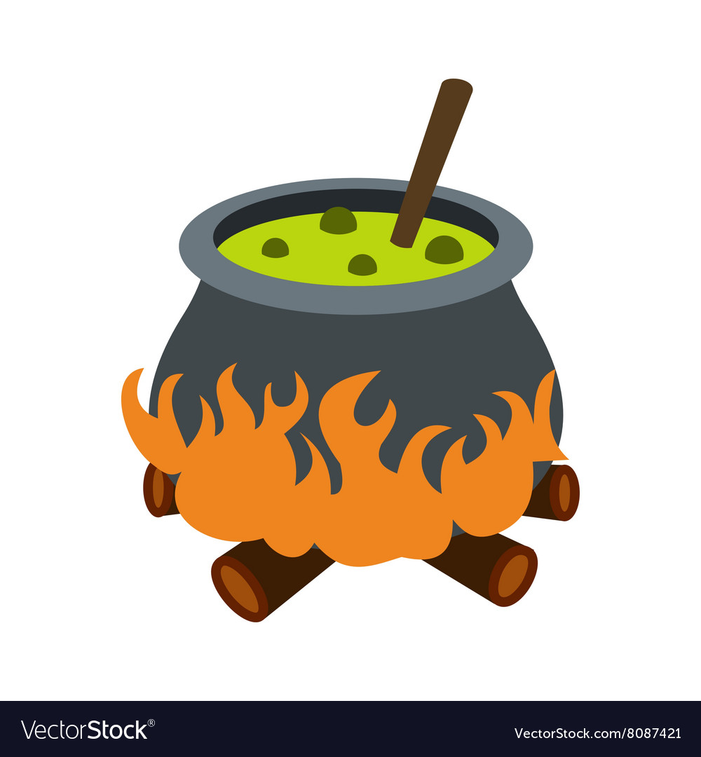 Cauldron with green potion icon
